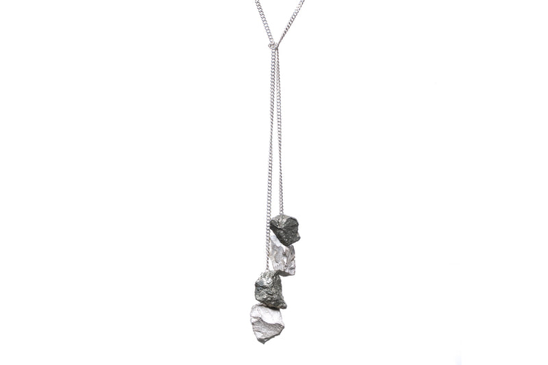 Drop Necklace // Silver