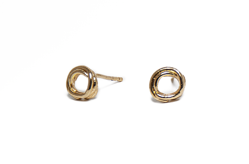 Scribble Studs//Gold