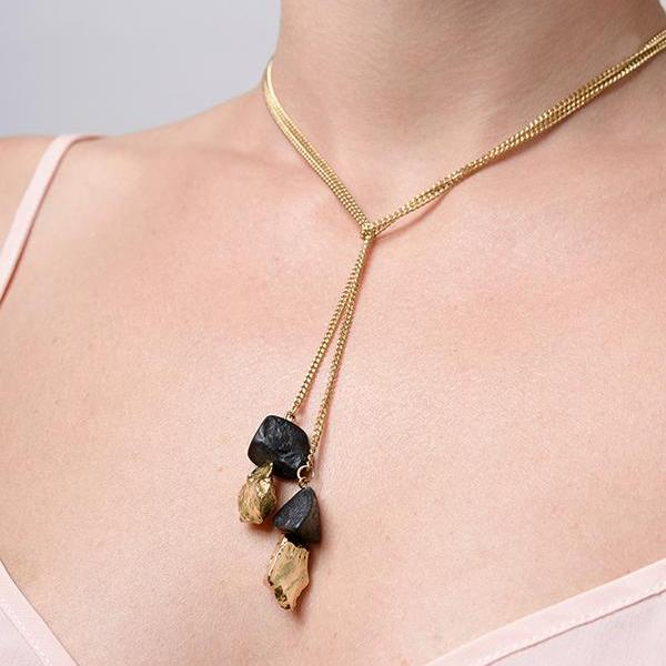 Drop Necklace // Gold