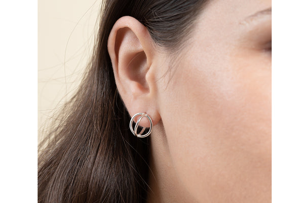 Globe earrings//S
