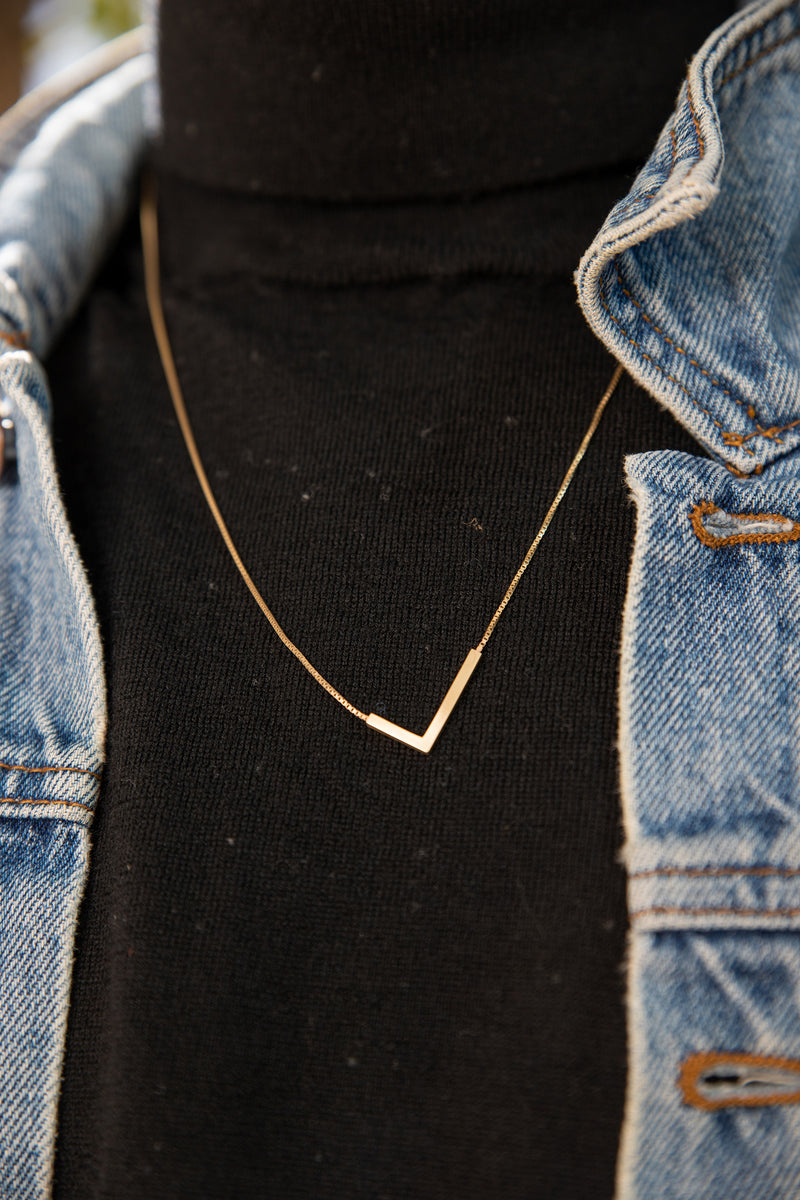 Beam Necklace-gold