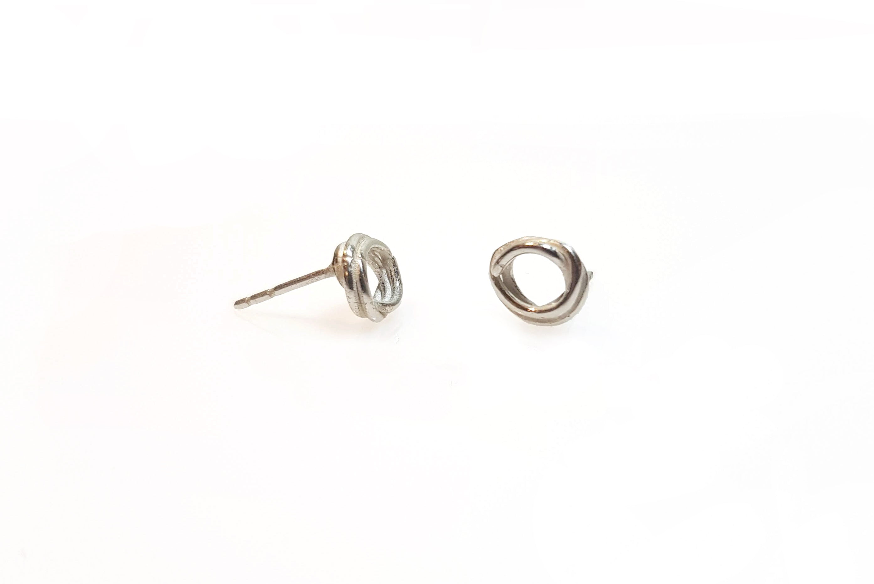 Scribble Studs//Silver