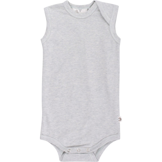 Sleeveless baby-body in organic cotton