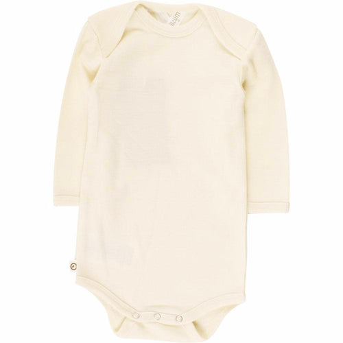 Woolly silk baby body organic merino wool