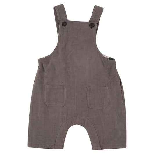 Baby's dungarees in manchester organic cotton