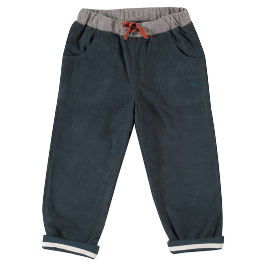 Boys lined cord(manchester) trousers in organic cotton