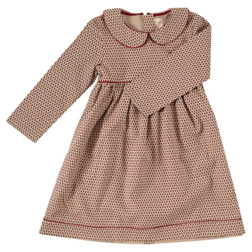 Girls dress with collar