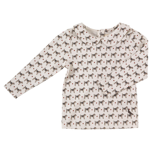 Shirt with Peter Pan collar organic cotton