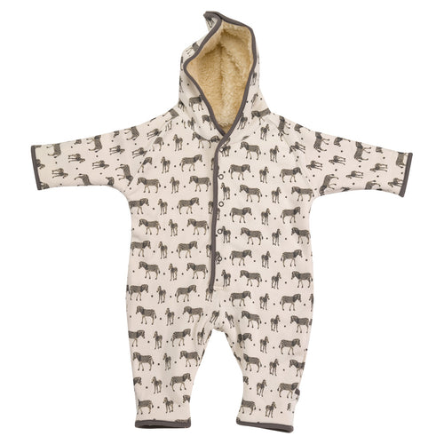 Snuggle winter jumpsuit for baby organic cotton