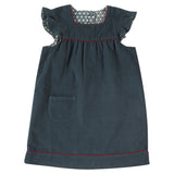 Frilled manchester dress organic cotton