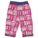 Girls reversible pants with two prints made with organic cotton