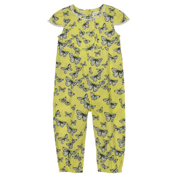 Playsuit for baby girl in organic cotton