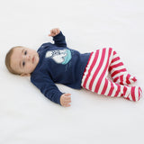 Baby's two piece set, leggings and top in organic cotton