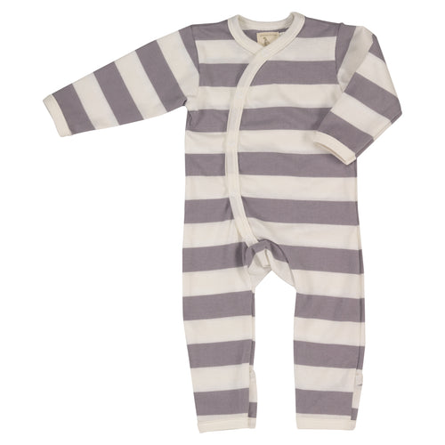 Soft baby romper with folded cuffs organic cotton