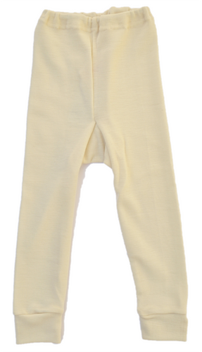 Children s virgin organic wool Long Johns
