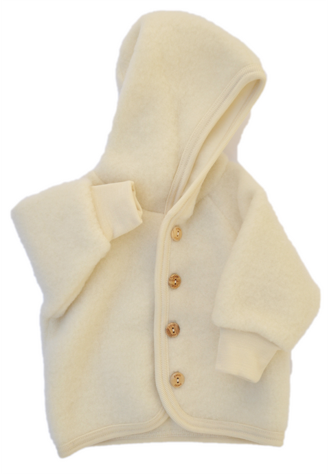 Virgin organic wool fleece for baby natural