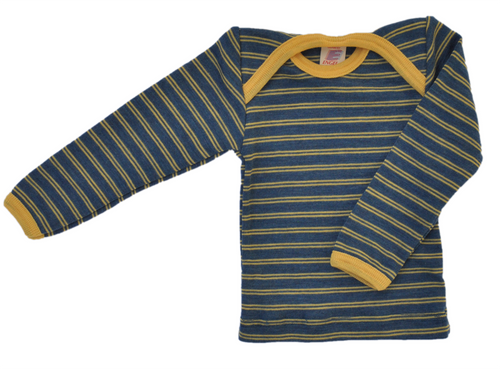 Striped organic wool envelope top for baby