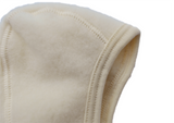Virgin organic wool fleece baby bonnet