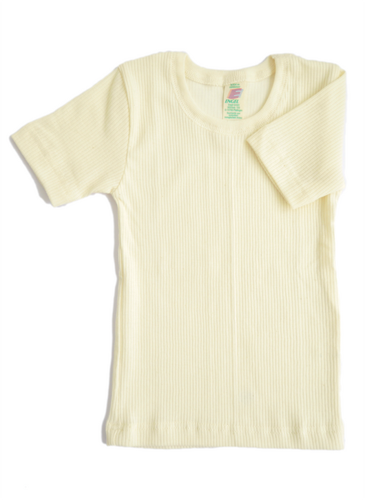 Boy's natural t-shirt in organic cotton