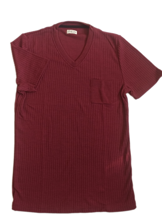 men´s t-shirt in wool silk blend