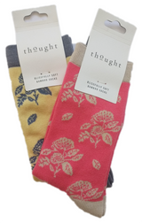 Set of 2 Flora Bamboo Socks