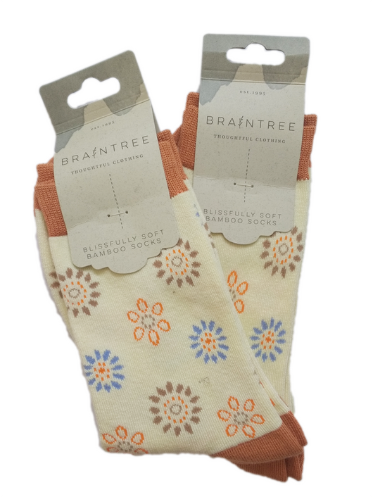 Set of 2 Flower Bamboo Socks