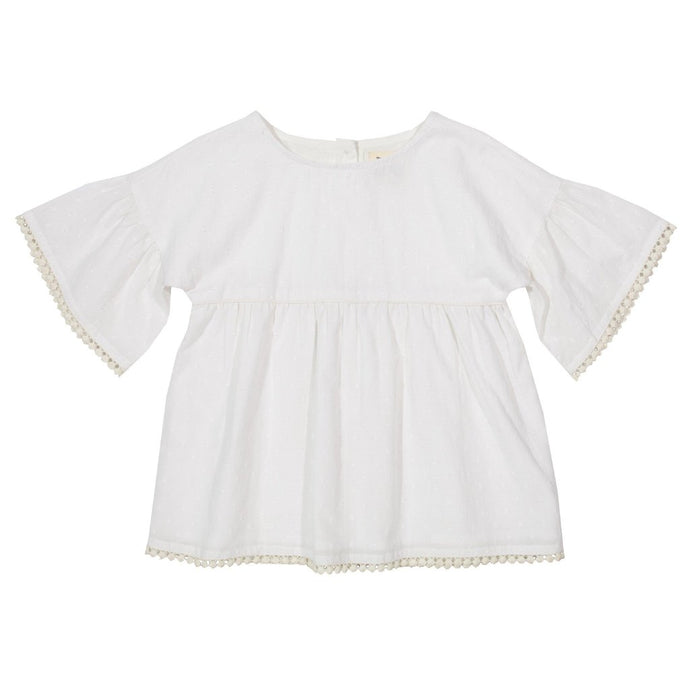 White Bell blouse for girls
