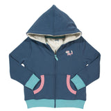 Girls hoody with recycled fleece and organic cotton