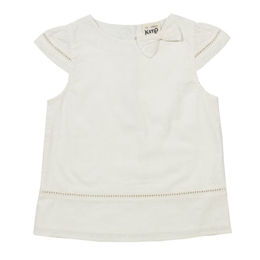 White blouse for girls in organic cotton