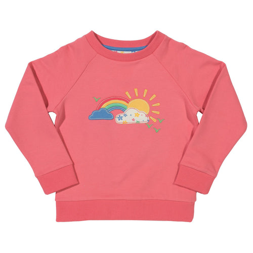 Girl's rainbow jumper in organic cotton