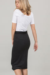 Pencil skirt knitted look in organic cotton