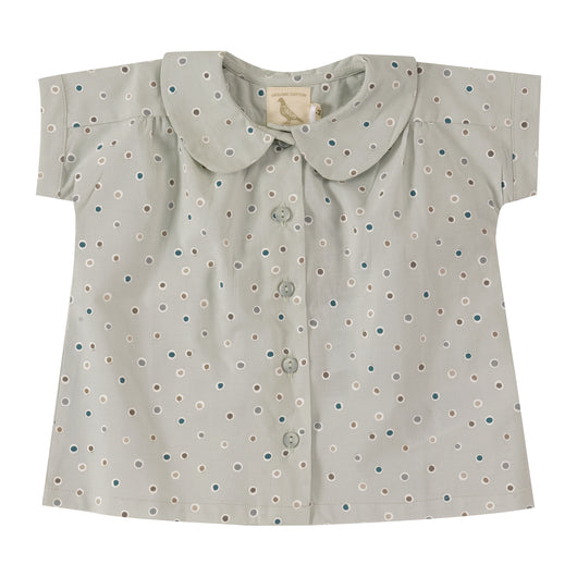 Baby´s Peter Pan collar blouse in pale organic cotton