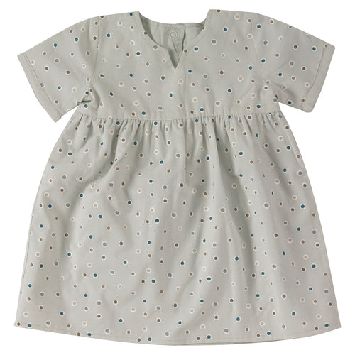 Baby´s reversible dress in organic cotton