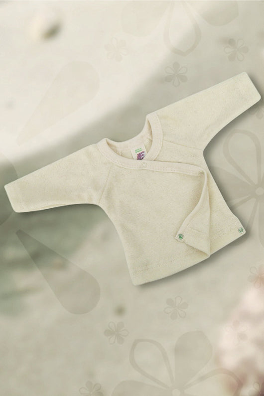 Organic cotton kimono shirt for baby