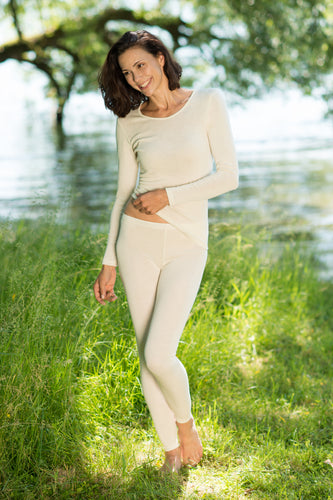 Wool/silk blended long johns organic