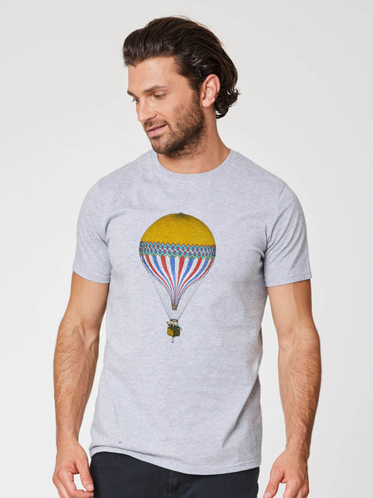 Hot air balloon t-shirt made with organic cotton