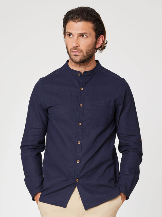 Grandpa shirt in hemp for men