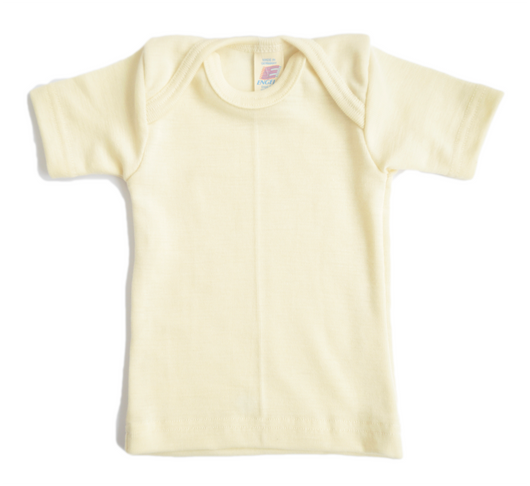 Baby t-shirt in Wool and silk