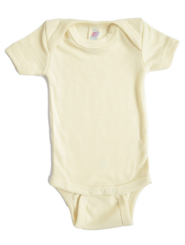 Baby-body in wool and silk