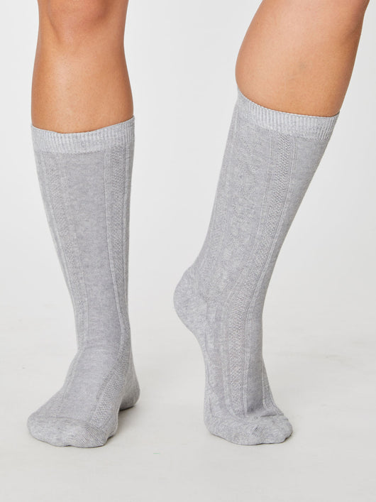 Certified organic cotton knee high socks