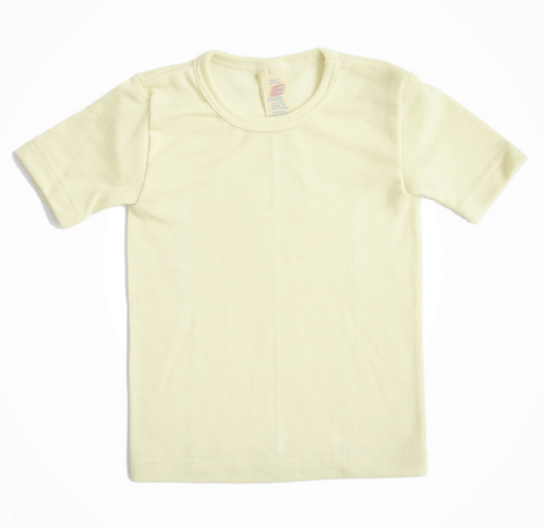 Children's t-shirt in wool and silk
