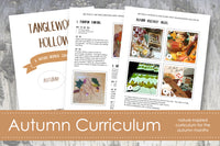 Autumn Curriculum; Nature-Based Learning Guide