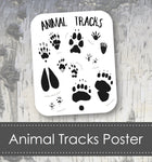 Animal Tracks Art Poster