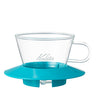 Glass Wave Dripper 155 (Peppermint) Kalita Wave Dripper