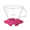 Glass Wave Dripper 185 (CherryPink) Kalita Wave Dripper