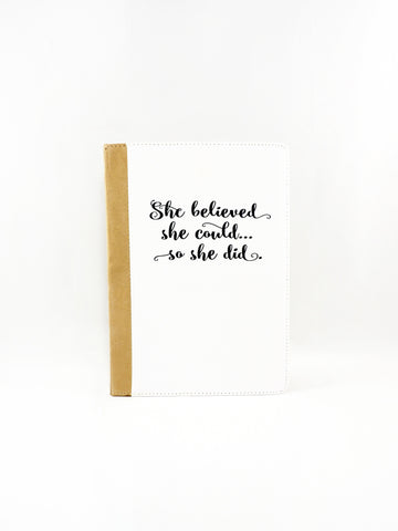 She Believed She Could Folio Case