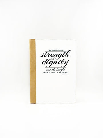 Proverbs 31:25 iPad Folio Case