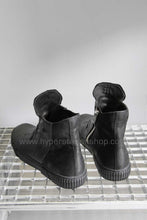 Both Rubber Covered High Top Sneaker, Black