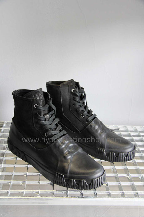 Both Half Coated High Top Sneaker, Black