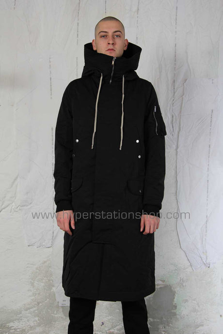 DRKSHDW Hooded Coat, Black